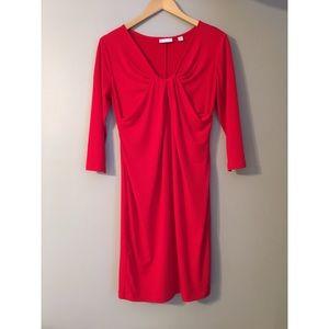 Red 3/4 sleeve dress